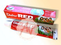 Dental paste for teeth, Зубная паста Dabur RED, 200 грамм